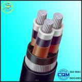 Câble d'alimentation isolé par PVC en aluminium de conducteur