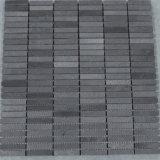 新しいデザイン中国の終了する砥石で研がれるを用いる黒い玄武岩の煉瓦モザイク・タイル