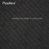 Royllent 도매 공장 실내 모자이크 검정 색깔 자동 접착 ACP 모자이크 타일 4mm 5mm 솔 표면