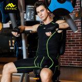 Veste apertada da camisa da aptidão do desgaste dos esportes dos homens para a ginástica
