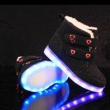 Nieuw Product 2016 de Laarzen van de Sneeuw van de Manier met LEIDEN Licht voor Jonge geitjes de Lichten van Schoenen 7 leiden Rechangeable