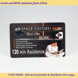 재충전용 카드를 위한 Barcode를 가진 플라스틱 카드 떨어져 찰상