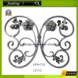 El panel ornamental de la flor del hierro labrado para la puerta del hierro y el pasamano del hierro