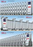 Porte d'entrée escamotable coulissante électrique d'alliage d'aluminium de porte
