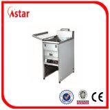 Friggitrice del gas di Indonisia per la cucina commerciale, strumentazione del ristorante di controllo di temperatura per il pollo fritto, patatine fritte fritte