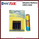 Célula de batería no recargable AAA de la batería alcalina de Lr03 1.5V