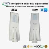 Bluetooth e APP 18-80W LED All-in-One Solar Street Light com Sensor