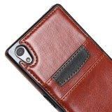 Caisse en cuir de la meilleure qualité de téléphone du slot pour carte le plus neuf pour Sony Xperia E4 Z5