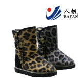Leopard PU obere Dame Snow Boots Bf1610246