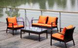 3 PCS im Freiengarten-Rattan-Patio-Sofa Hand-Spinnend