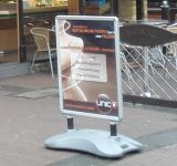 Pavement Sign board, A1 outdoor poster status