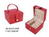 Doos van de Juwelen van het Leer van de luxe de Klassieke Rode met Lade