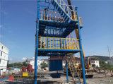 Proceso de instalación de equipo de la espuma de poliuretano