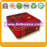 チョコレート・キャンディ、ギフトの錫の容器のための正方形の金属のギフト用の箱