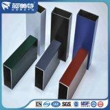 Tubo quadrado de alumínio extrudido de cor diferente anodizado