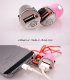 Заряжатель автомобиля USB 4 цветов всеобщий