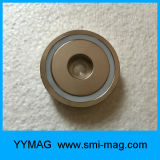 さら穴を開けられた穴が付いている高品質の鍋の磁石のネオジムの磁石