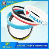 Wristband feito sob encomenda profissional do silicone do Silkscreen para o presente da promoção (XF-WB08)