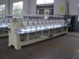 Máquina de bordar de 20 cabezales mezclada con dispositivo de cordón