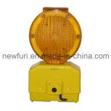 Luz de advertência do tráfego solar ambarino da luz da barricada do diodo emissor de luz do farol intermitente