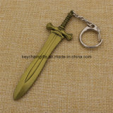 Hot Sale Fashion Metal Sword Keychain pour Letter Opener