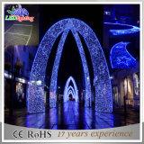 Decoração ao ar livre Paisagem Flor decorativa Arco grande LED 3D Light