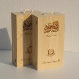 Оптовая деревянная коробка Двойн-Сосуда коробки подарка коробки вина деревянная