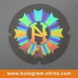 Holograma láser 3D etiqueta engomada transparente de Seguridad
