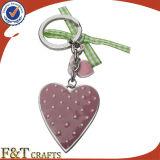 昇進のバレンタインのカップルの中心の形の金属カスタムKeychain (FTKC1822A)