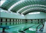 Bâti en acier préfabriqué de l'espace pour le revêtement de toit de piscine