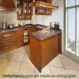 Gabinete de cozinha do estilo de Europa da madeira inteiramente contínua