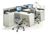 Ufficio moderno 2 Seater L stazione di lavoro del divisorio dell'ufficio dello scrittorio di figura (HF-J706)