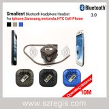 Fone de ouvido estereofónico o menor da em-Orelha do auscultadores dos auriculares de Bluetooth do telefone móvel o mini