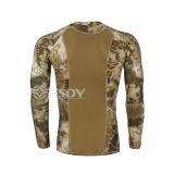 L'absorption d'humidité du Rapide-Séchage de 2016 hommes extérieurs transpirent le T-shirt de Long-Douille