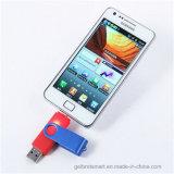 Lecteur flash USB fait sur commande du cadeau OTG de logo pour le téléphone mobile