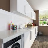Gabinetes de madeira da lavanderia da laca branca do projeto da casa de campo de Oppein Austrália (OPW-L01)