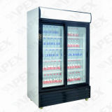 Doubeのガラスドアのセリウム、CBが付いている商業飲料のフリーザー