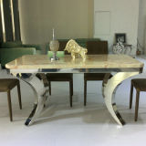 Stainless Steel Frame (A501)の大理石のTop Dining Table