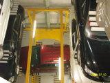 Sistema que parquea automatizado garage ligado de la torre