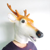 Máscara Eco-Friendly Natural Latex Horse Mask Full Head Animal Mask