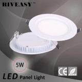 5W comitato chiaro rotondo dell'acrilico LED con gli indicatori luminosi di comitato di Ce&RoHS LED