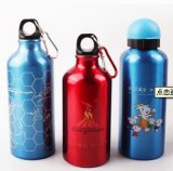 Sale quente Colorful Sports Water Aluminium Bottle com Carabiner Lid