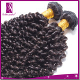 7A 18インチのUnprocessed Kinky Curl Hair