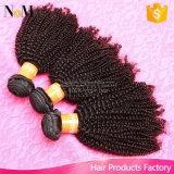 Cabelo natural do Virgin barato ondulado natural do Crochet da extensão 7A do cabelo humano de Remy