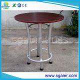 Tabla de aluminio del braguero, taburete Quatro, mesa redonda de aluminio