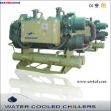 セリウムCertificated 216kw Industrial Water Cooled Screw Water Chiller