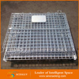 Hot pieghevole Sale Galvanized Wire Mesh Container con Lid