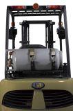Northeのアメリカ人の市場のための3.5t二重燃料へのGMエンジン2.0tを搭載するLPGのフォークリフト
