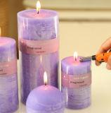 Pfosten-u. Kugel-Aroma-Sojabohnenöl-Wachs-Kerze für Weihnachten