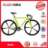 Vitesse fixe de couleur de la qualité 700c 26inch de vente d'usine de la Chine de route de vélo de vitesse de bicyclette fixe jaune noire de vélo à vendre avec du ce